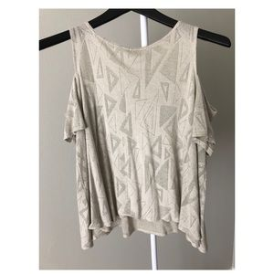 Flowy Good Shimmer Cold Shoulder Blouse Flowy